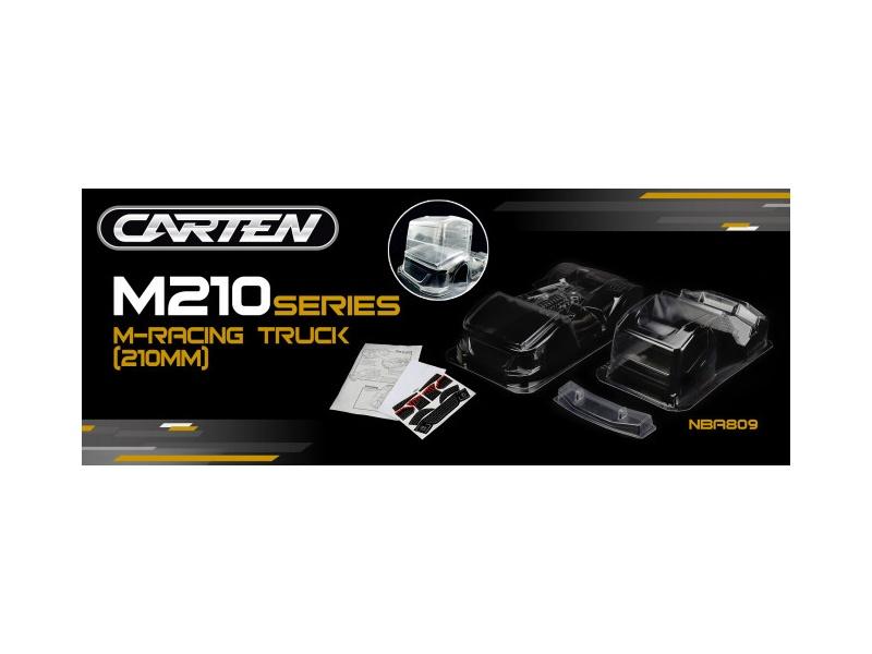 Racing Truck M-Chassis Karosserie klar (210mm)