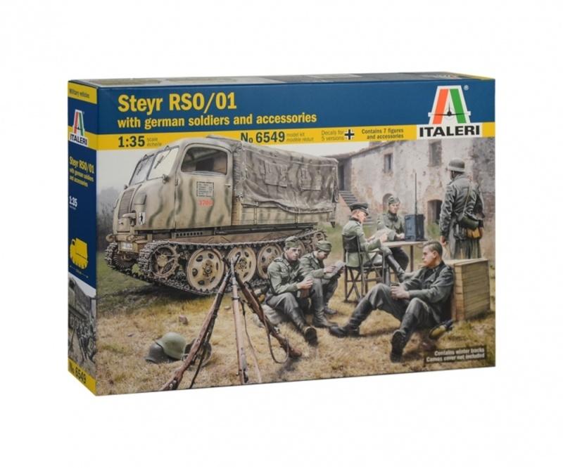 Steyr RSO/01 mit deutschen Soldaten und Zubehör 1:35