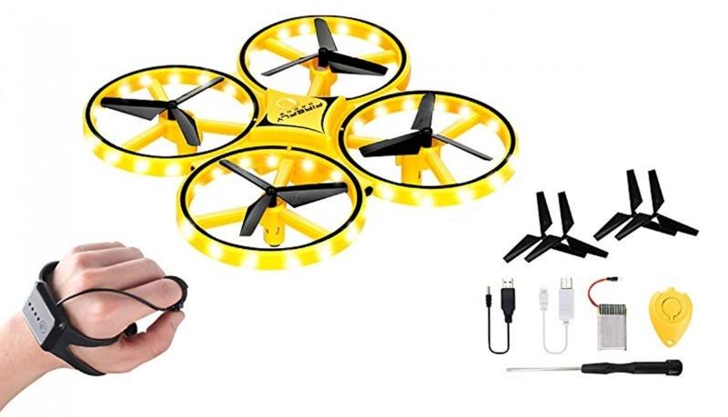 GC UFO Drohne mit Gestensteuerung 2,4GHz RTF, gelb