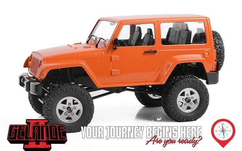 1/18 Gelande II RTR Black Rock Truck (Orange)