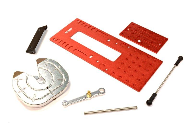 CNC Auflieger-Kupplung Set für Custom 1/14 Truck, rot