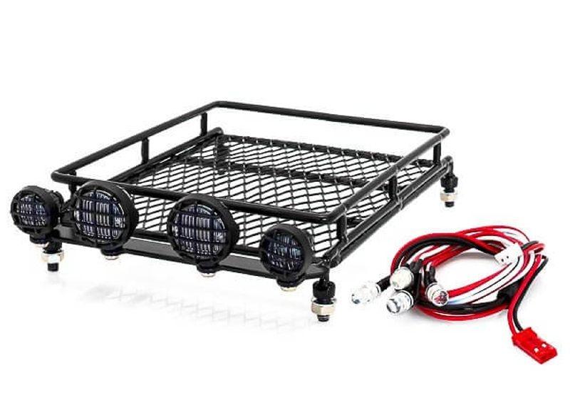 Dachgepäckträger Set Metall mit LED Scheinwerfern 140x80x40
