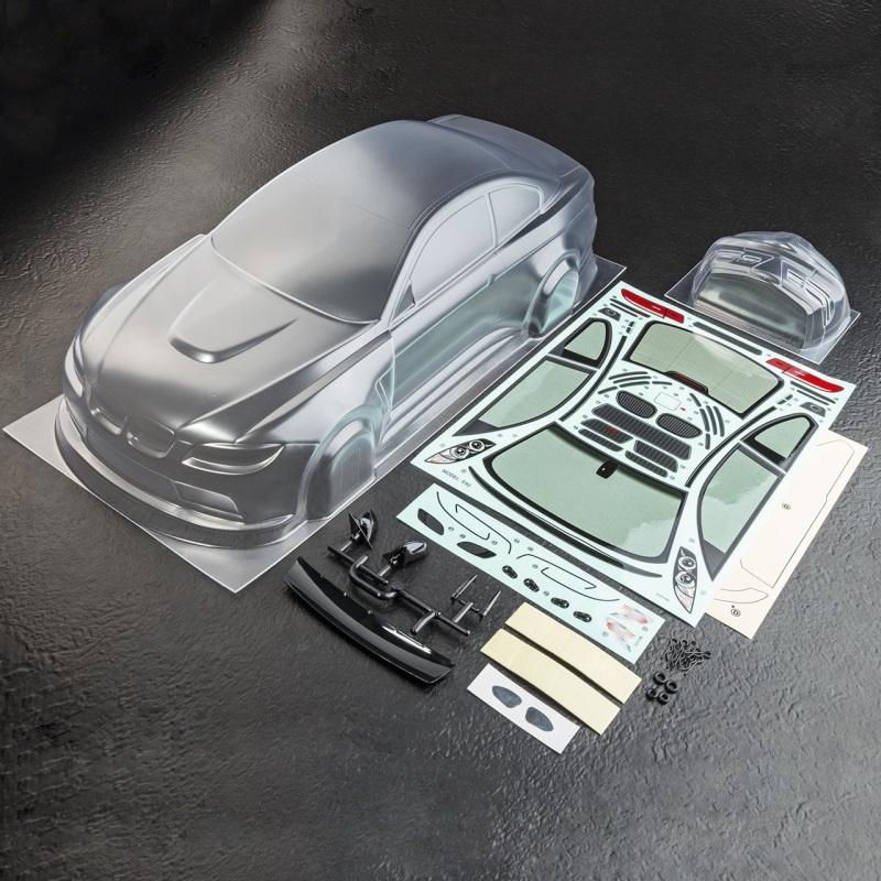 BMW E92 M3 Karosserie (klar) 1:10 Tourenwagen 190mm