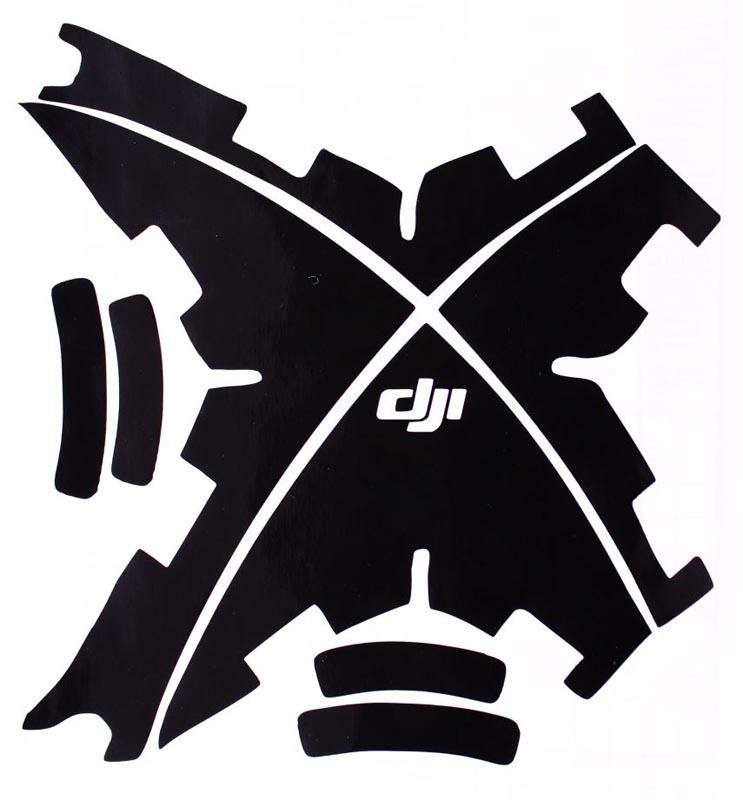 DJI Phantom 3/II/Vision+ Aufkleber Decal Schwarz