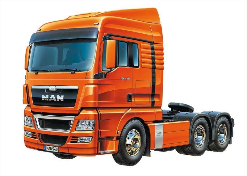 MAN TGX 26.540 6x4 XLX Euro 5 3-Achs Truck RC Bausatz 1:14