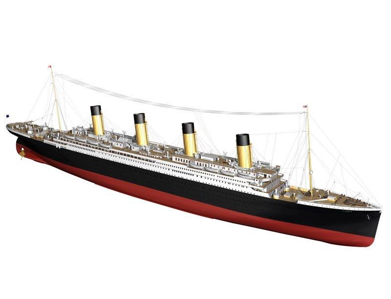 RMS Titanic 1:144 Länge 1,88  Meter  Bausatz
