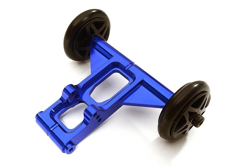 CNC Aluminium Wheelie Bar blau für 1/8 Kraton 6S BLX