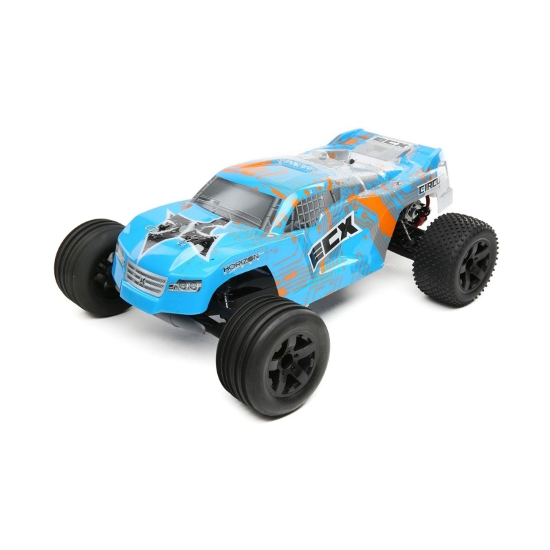 Circuit 2WD Stadium Truck Brushed 1:10 RTR LiPo blau/orange