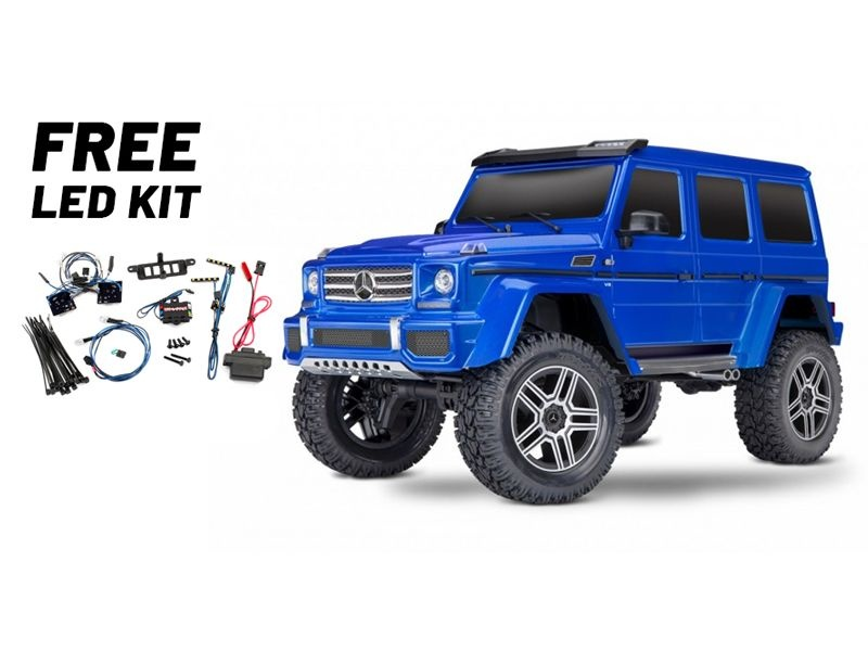 TRX-4 Mercedes G500 4x4 1/10 Scale & Trail Crawler LED blau