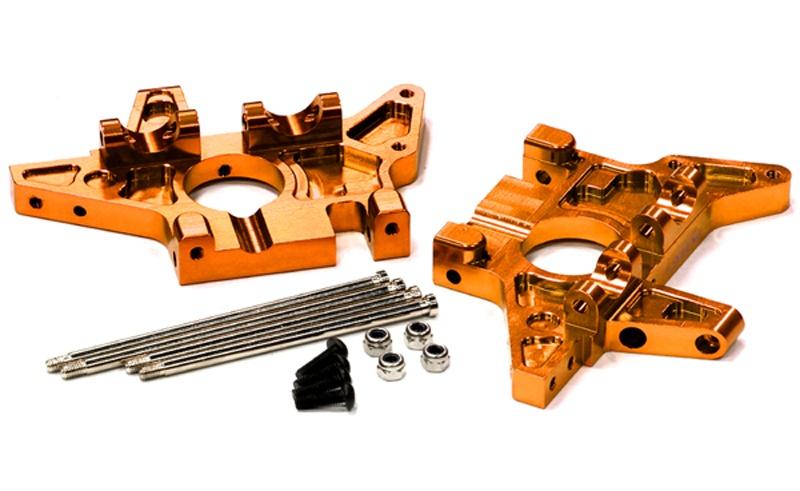 Aluminium Bulkhead-Set für Traxxas E-Maxx, orange