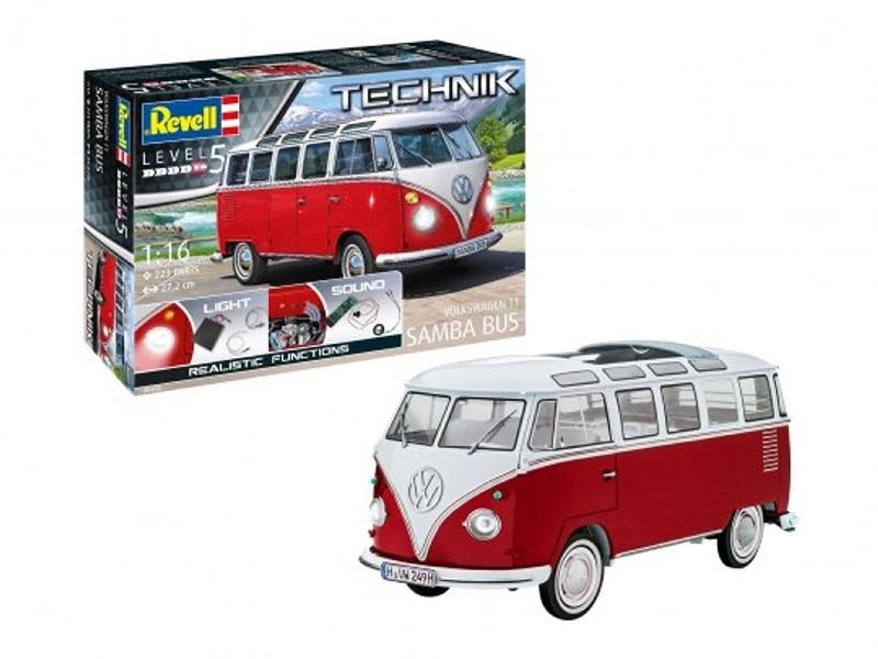 Volkswagen T1 Samba Bus 1:16 Technik Bausatz mit Licht Sound
