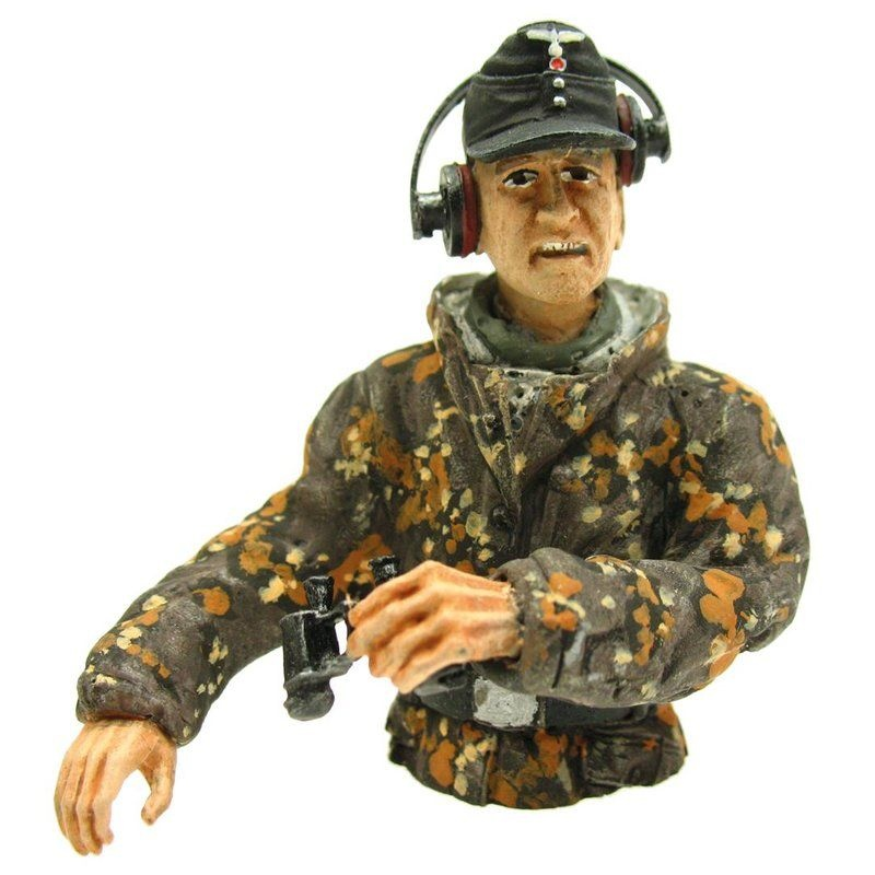 Figur Panzerkommandant Sommertarn Halbfigur 1/16 für Panzer