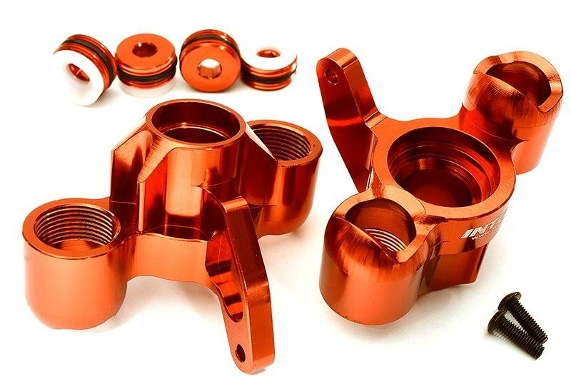 CNC Aluminium Achsschenkel rot für 1/8 Kraton 6S BLX