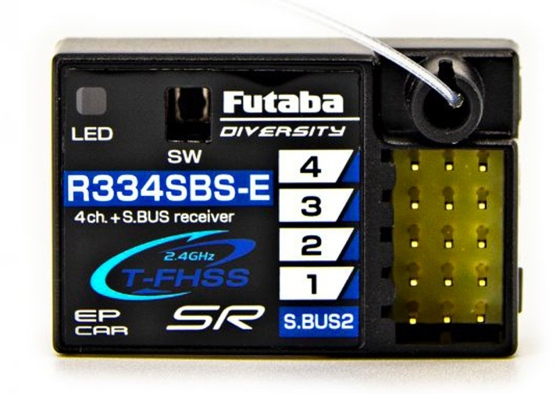 R334SBS-E 4-Kanal Empfänger Telemetrie S.BUS2 T-FHSS 2,4GHz