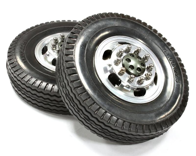 Alufelge vorne 12R mit Reifen für Tamiya 1/14 Scale Truck