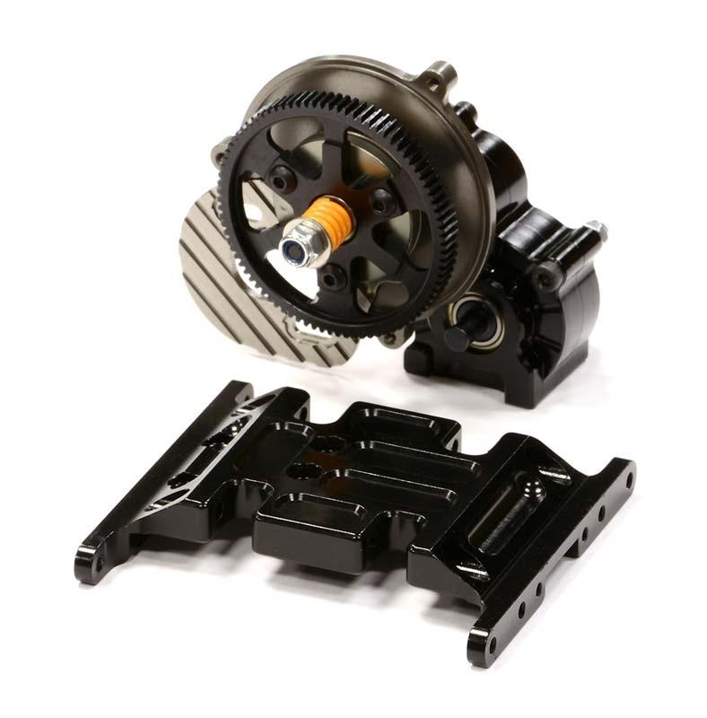 CNC Alu Getriebegehäuse mit Metallgetriebe für Axial SCX-10