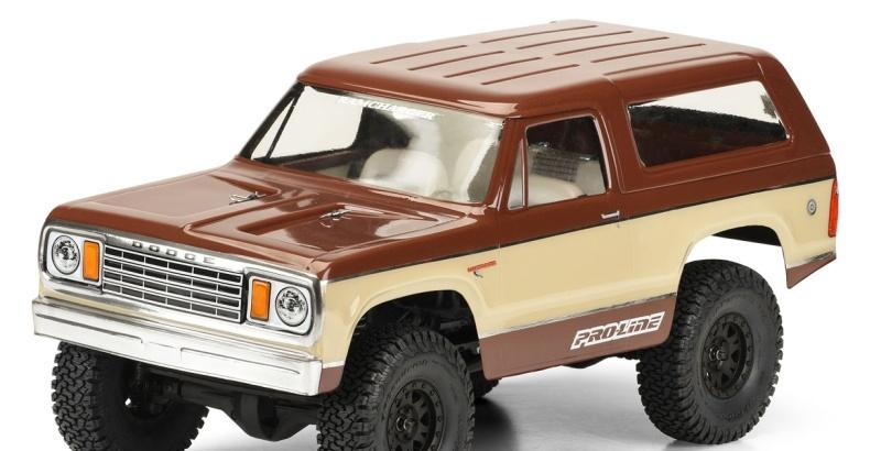 1977 Dodge Ramcharger Karosserie (klar) für Crawler (313mm)