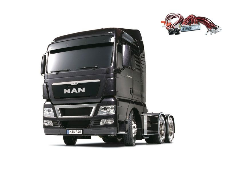 Truck MAN TGX 26.540 Gun Metal Edition + LED-Lichtset