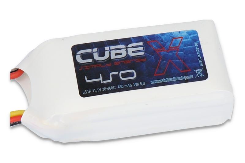 X-CUBE 450mAh 3S1P 11,1V 30C/60C