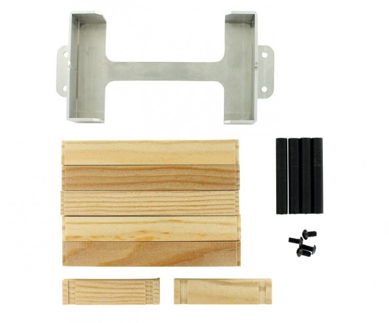 Aluminium Staufach mit Holzbohlen - 1/14 Goldhofer Tieflader