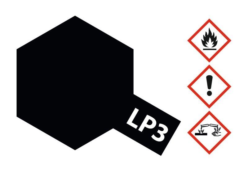 LP-3 Schwarz matt Kunstharzfarbe 10ml