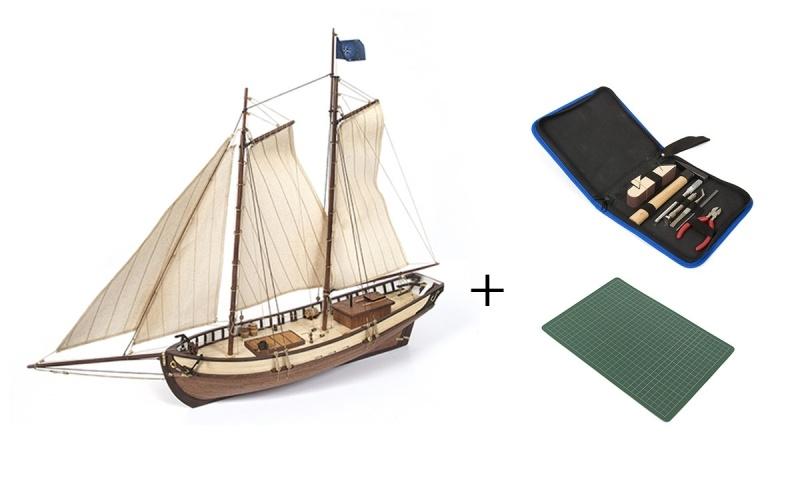 Polaris starter Pack Segelschiff Bausatz 1:50