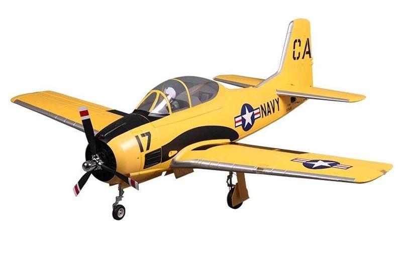 T-28D Trojan V4 gelb Scale Warbird Flugmodell 1420 mm PNP