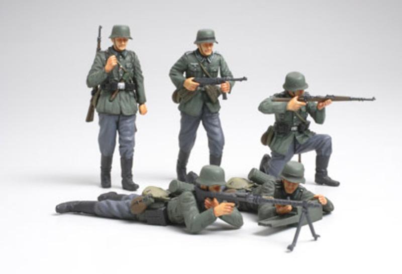 WWII Figurenset Deutsche Infanterie Frankreich (5) 1:35