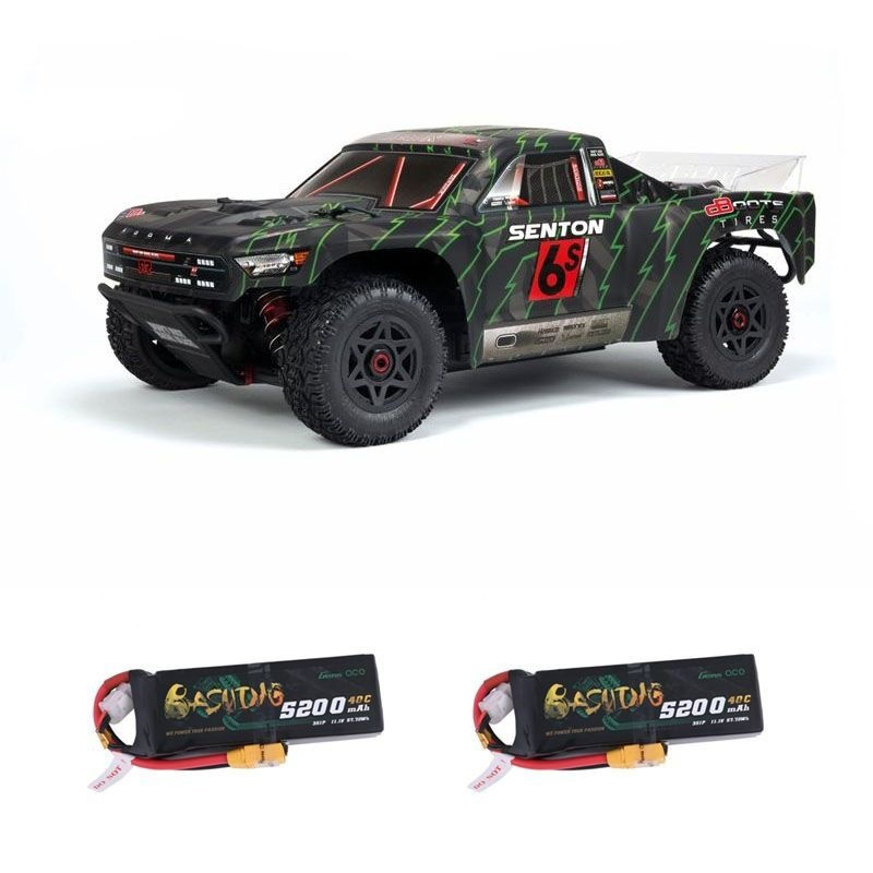 Senton 6S BLX 4WD 1/10 Short Course Truck RTR grün 2x3S LiPo
