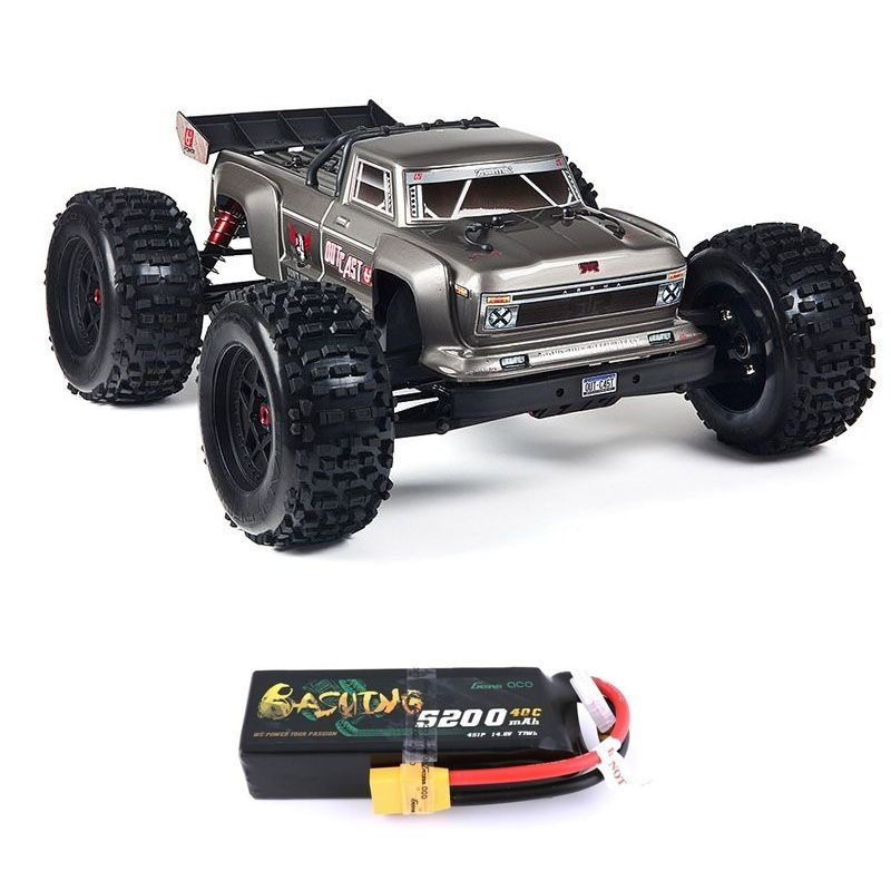 Outcast 6S BLX 4WD 1/8 Monster Truck silber RTR + 4S LiPo