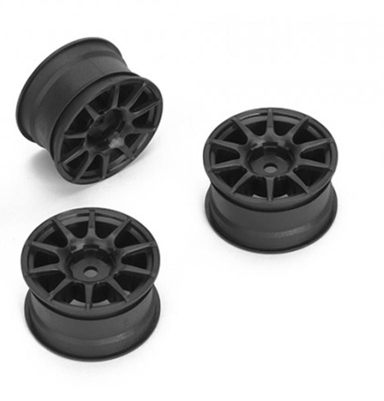 Felge 10-Speichen +1mm, 12mm Hex für M-Chassis, schwarz (4)
