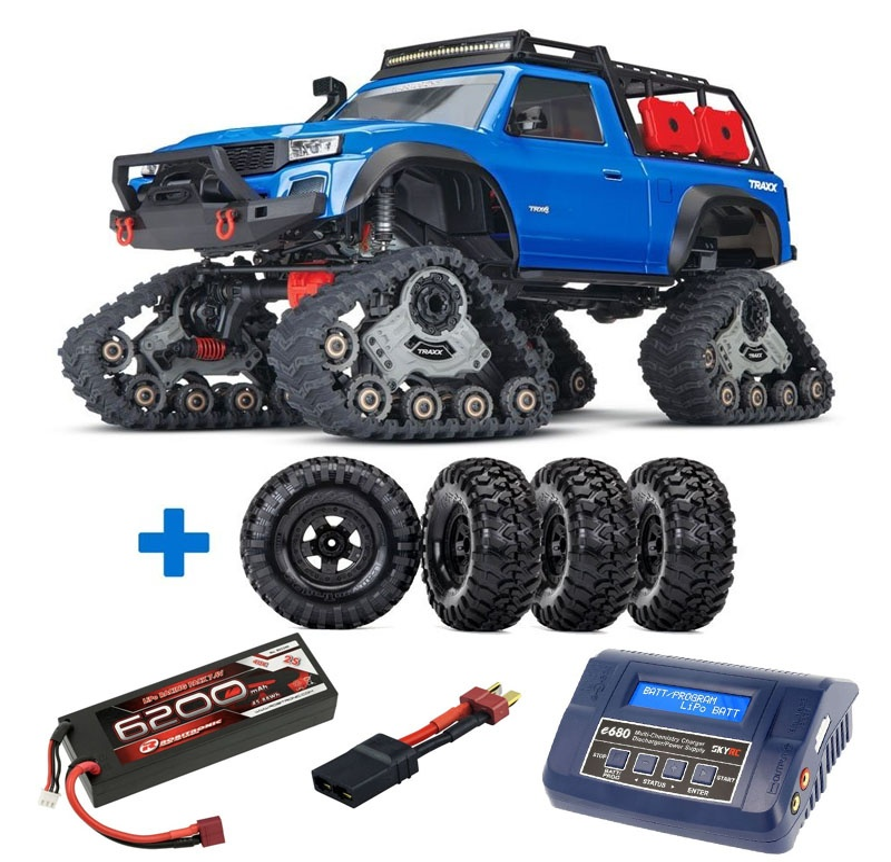 TRX-4 Sport mit All Terrain Traxx Ketten, LED RTR, blau