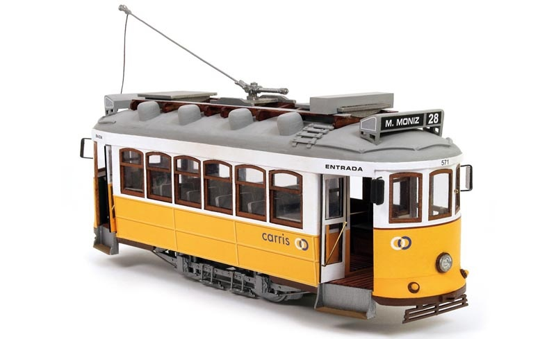 Lisboa Tram 1:24 Straßenbahn Bausatz