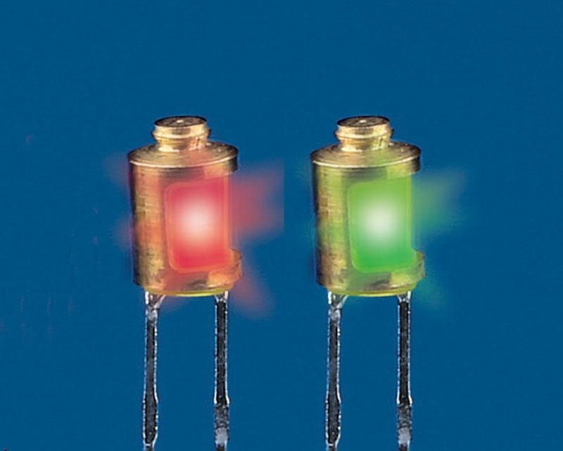 Positionslampen rot/grün 4 mm mit LED (Satz)