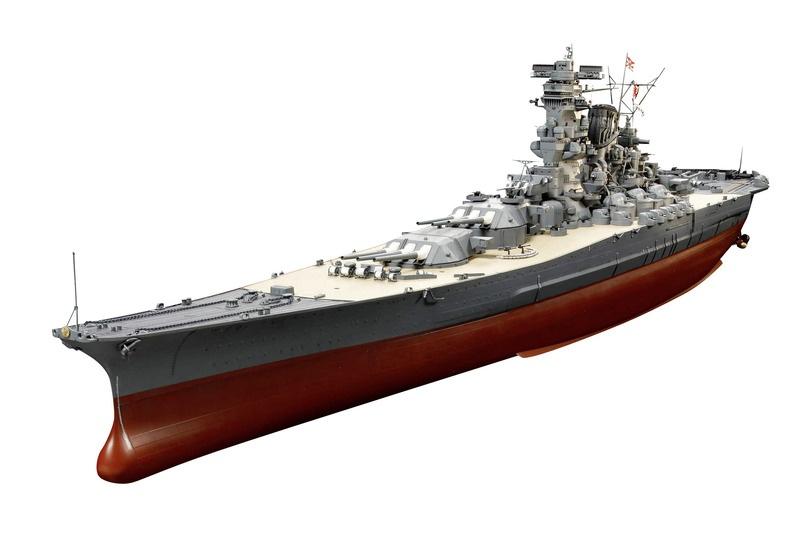 1:350 WWII Japanisches Kampfschiff Yamato