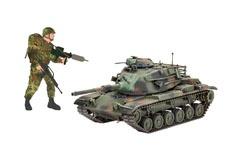 Militärfahrzeuge und Figuren
