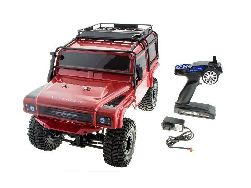 Yakubi Sakai 1/10 Crawler 4WD 2,4GHz RTR in Alu rot