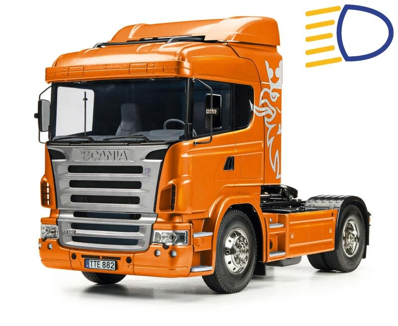Scania R470 4x2 Orange Edition - Exklusiv + LED-Lichtset