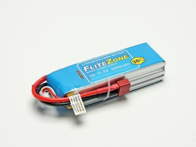 LiPo Akku FliteZone 2200mAh - 11,1V + Deans-T