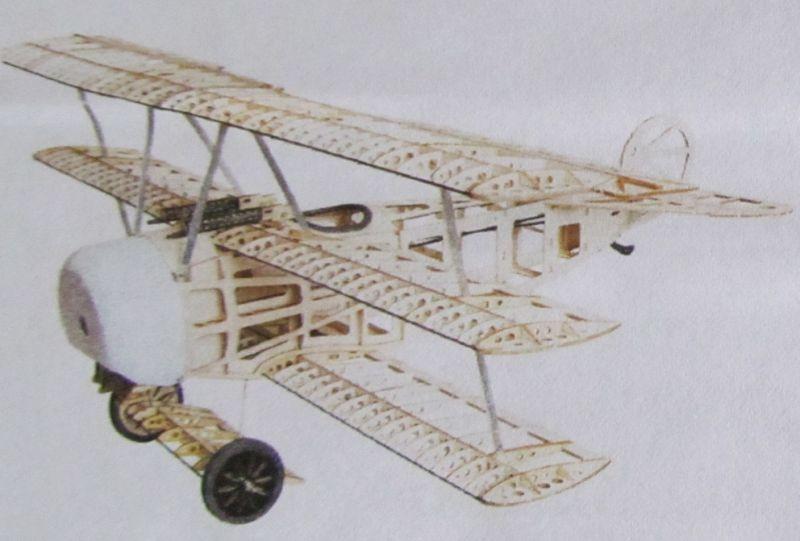 Fokker DR.I Dreidecker als klassischer Holzbausatz