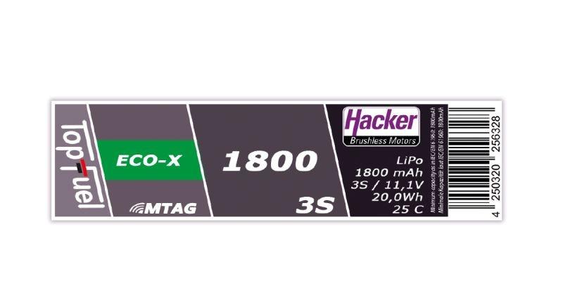 TopFuel LiPo Akku 25C ECO-X 1800mAh 3S MTAG XT60