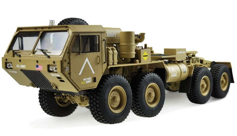 U.S. Militär Scale Truck 8x8 1:12 mit Sattelplatte RTR, sand