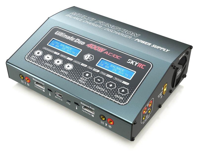 Ladegerät D400 AC/DC 2x200W LiPo 1-7S 20A