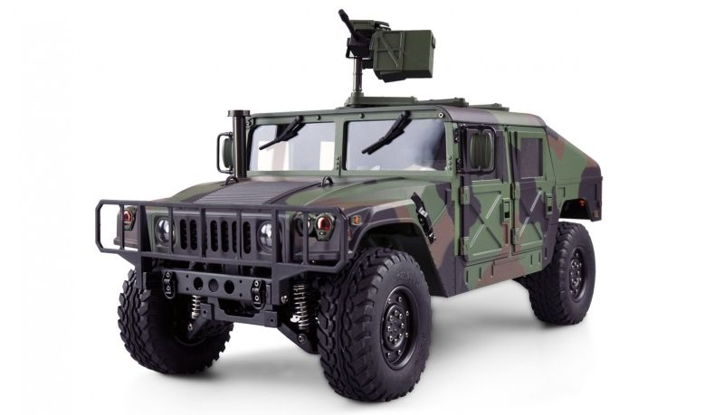 4x4 U.S. Militär Truck 1:10 Camouflage Teilmetall RTR