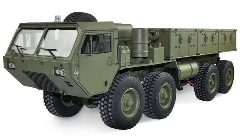 U.S. Militär Scale Truck 8x8 1:12 mit Ladefläche RTR, grün