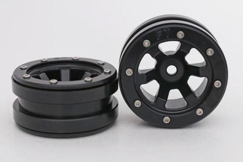 Aluminium Beadlock Felgen 1.9 PT-Claw schwarz