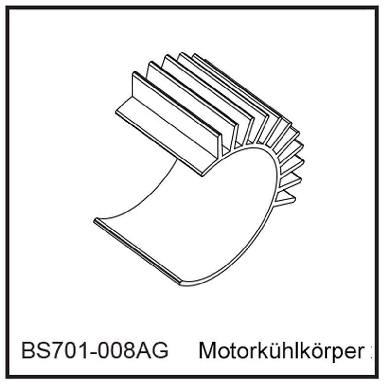 Motorkühlkörper - BEAST BX / TX
