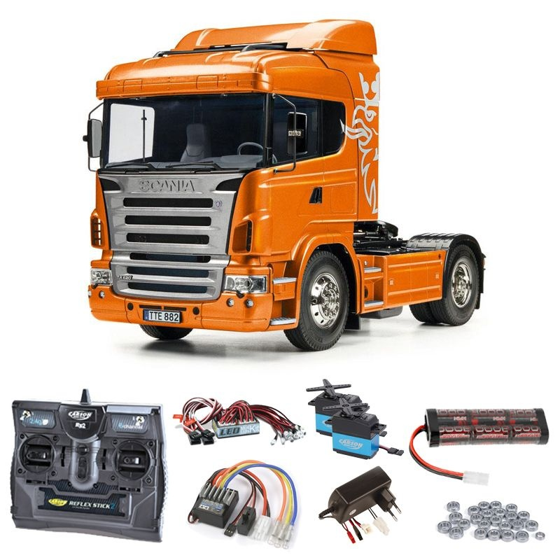 Scania R470 4x2 Orange Edition Komplettset + LED, Kugellager