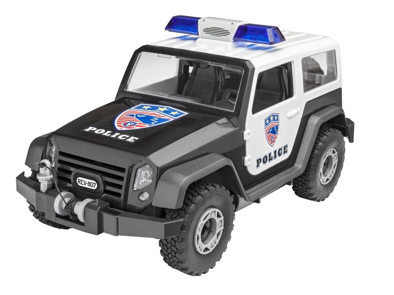 Junior Kit Offroad Vehicle Police 1:20
