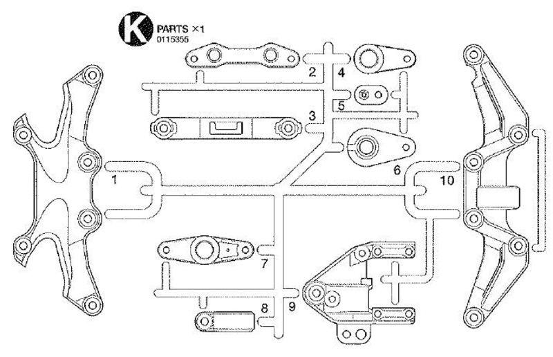 K-Teile Versteifung vorn, hinten TA-05